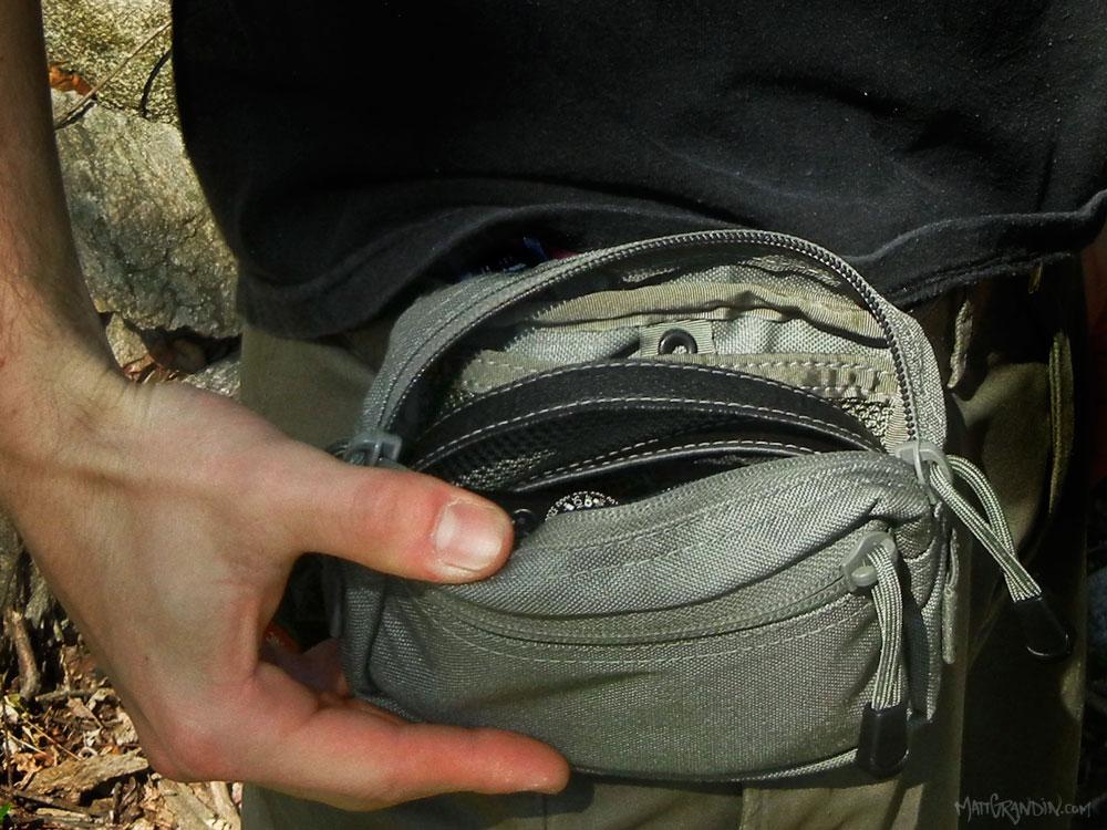 GPP1 molle pouch on a standard belt