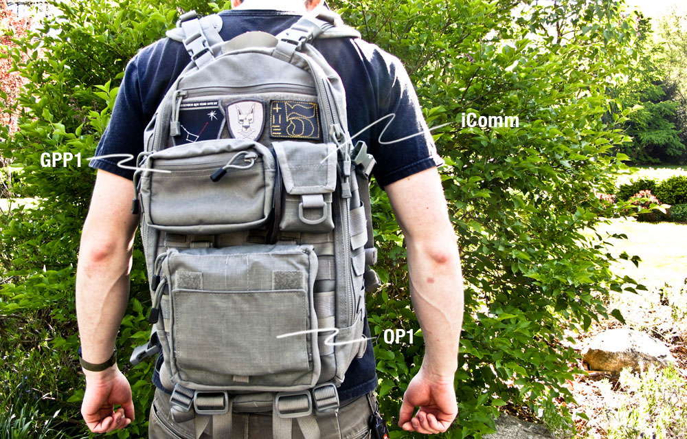 TAD gear molle pouches on fast pack litespeed